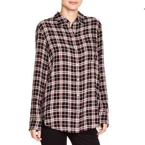 [Theory] Small Simara NB Cherrywood Plaid Shirt